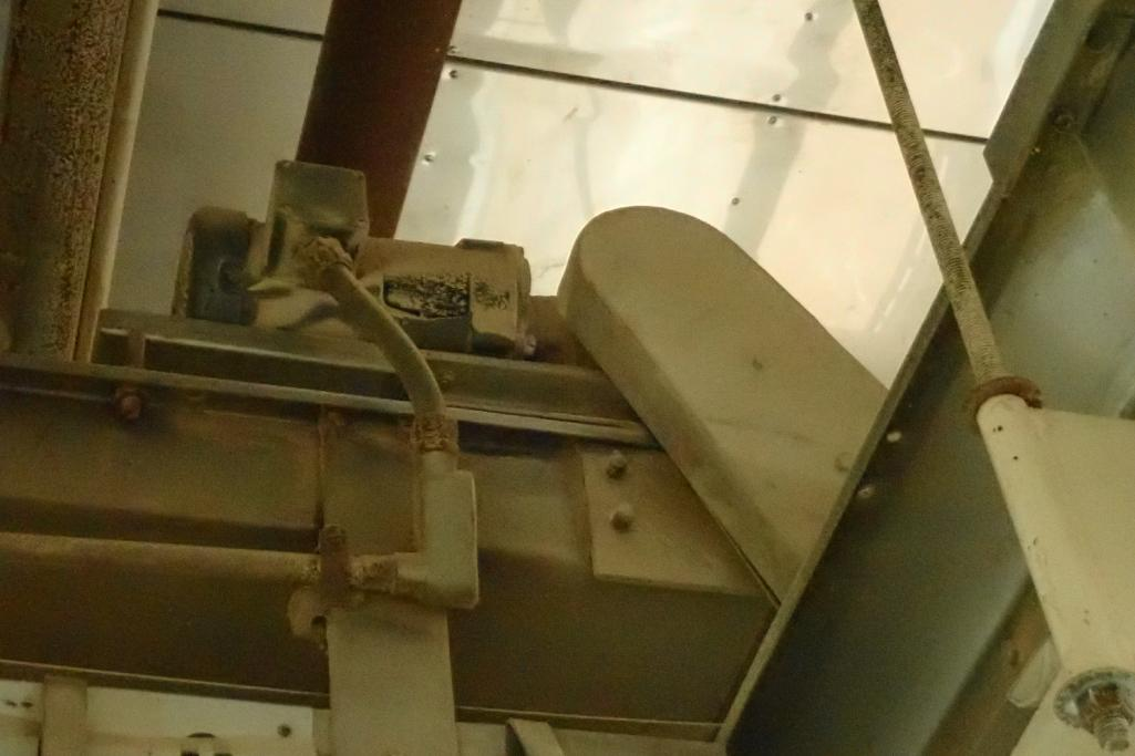 SS belt conveyor, 26 ft. long x 18 in. wide, suspended from ceiling, with motor and drive. **Rigging - Image 6 of 6