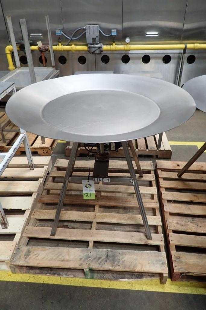 Lot 81 - SS rotating accumulating table, 44 in dia., with drive. **Rigging Fee: $75**