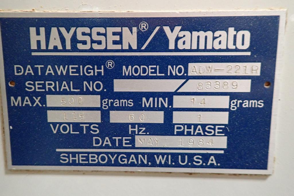 1984 Yamato 12-head scale, Model: ADW-221R, SN 83389, max 500 grams/min. 14 grams. **Rigging Fee: $4 - Image 11 of 11