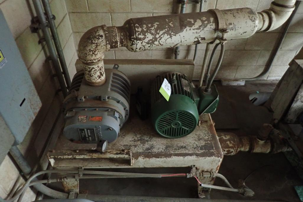 Schick 10 hp blower package, SutorbiltModel: GAELDPA, rotary positive blower. **Rigging Fee: $300** - Image 6 of 7