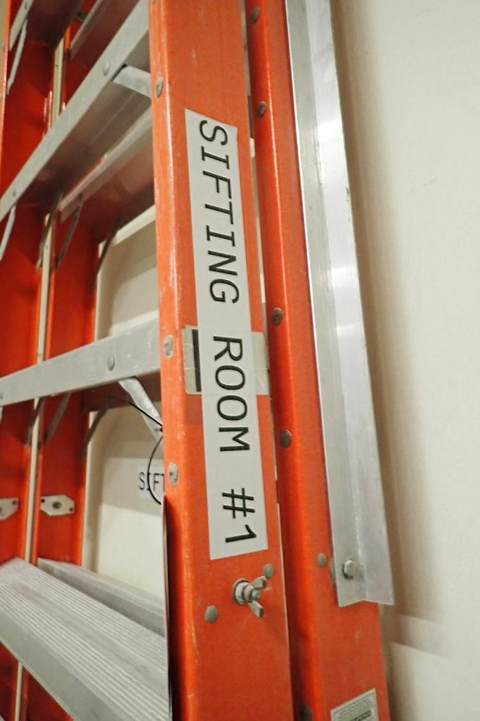 Louisville 14 ft. step-ladder. **Rigging Fee: $10** - Image 2 of 3