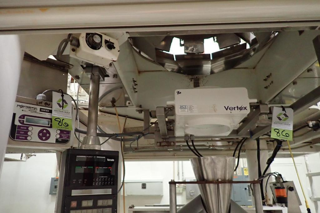 Lot 86 - Fortress Vertex flow-through metal detector, SN G6716, 8 in. dia. flow through. **Rigging Fee: $250*