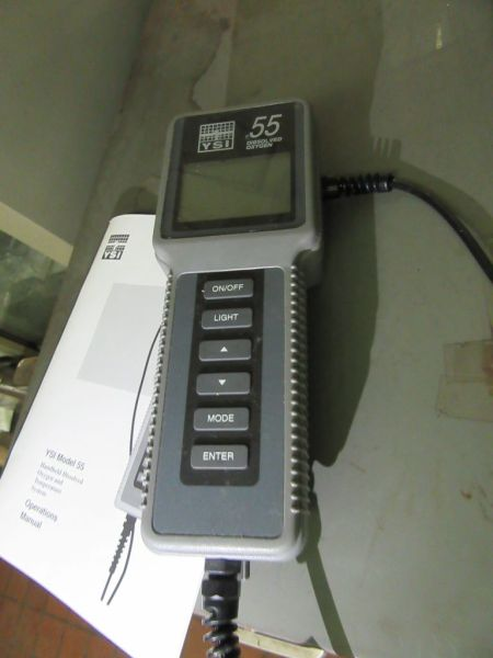 Lot 340 - YSI INCORPORATED MODEL 55 HANDHELD DISSOLVED OXGEN AND TEMPERATURE SYSTEM