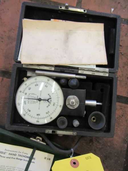 Lot 189 - BIDDLE HAND TACHOMETER & AMERICAN TACHOMETER WITH CASES