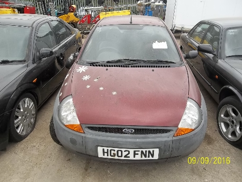 Lot  Ford Ka Hg Fnn Year Of Manufacture  Date Of First