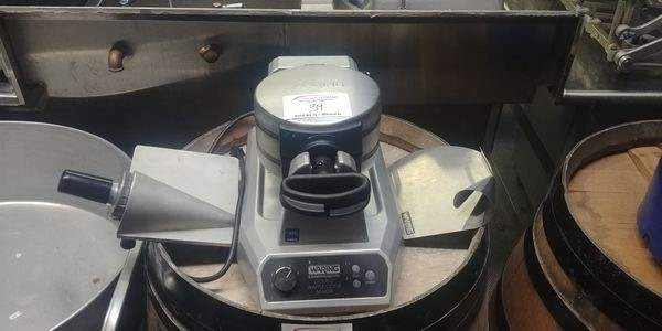 Lot 39 - Waring Commercial Double Waffle Maker with Assorted Attachments