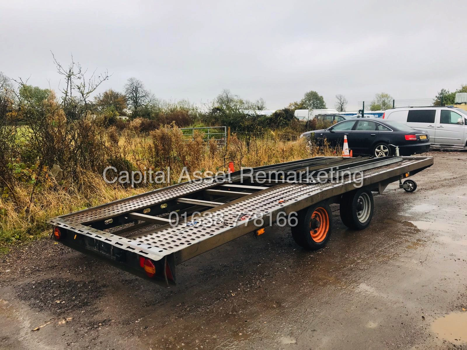 Los 16 - BRIAN JAMES TYPE CAR TRANSPORTER / RECOVERY TRAILER - TWIN AXEL - 1 OWNER - NO VAT!!!
