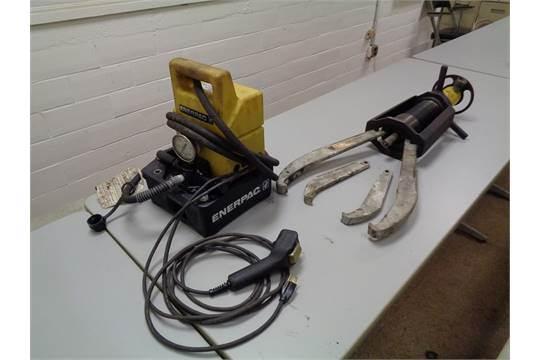 Bearing Puller Electric Motor : Enerpac ton gear bearing puller with electric