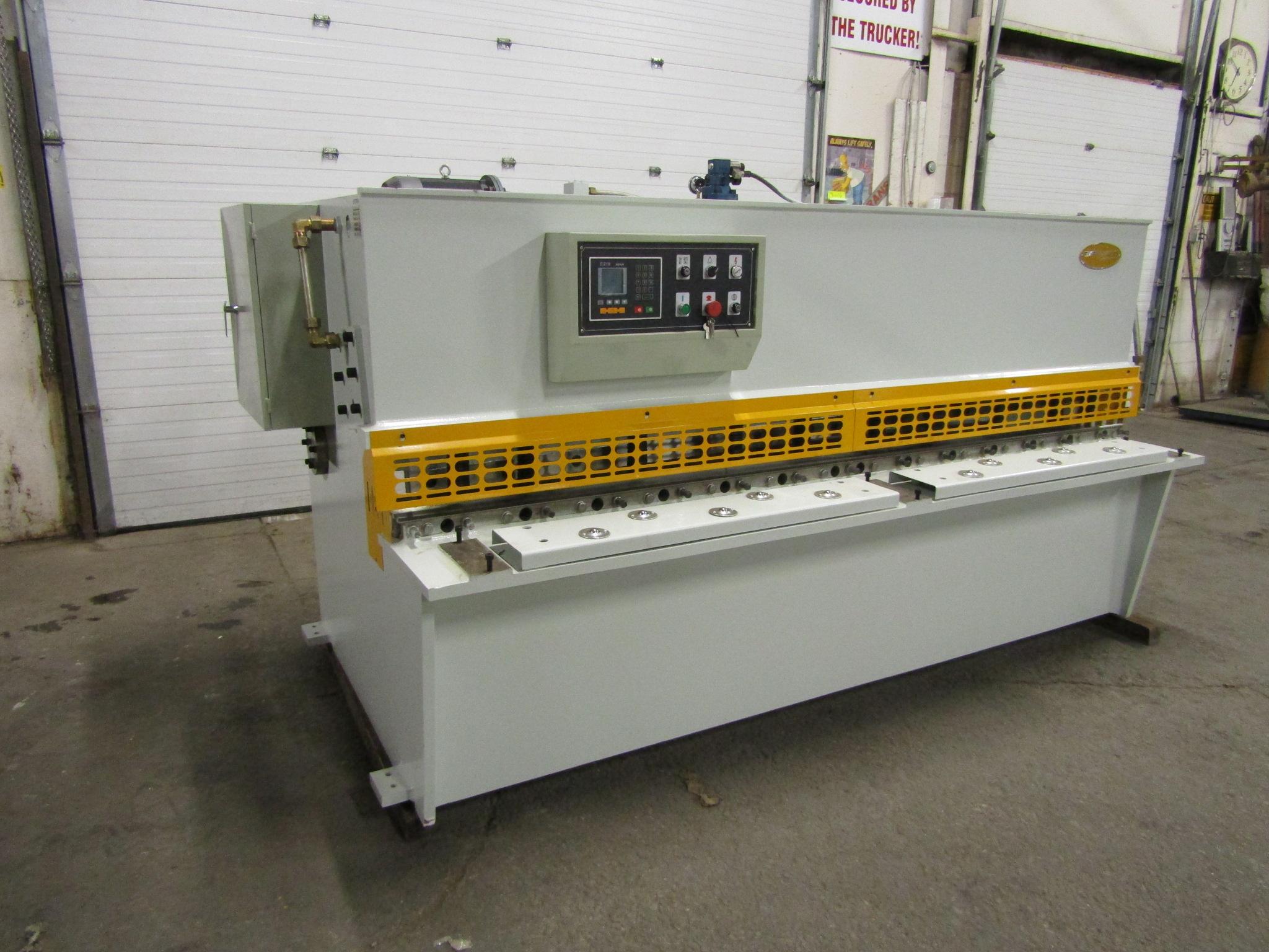 "Lot 233 - Bernardo Hydraulic Shear 3/16"" max capacity 98"" width - 480/575V 3 phase MINT UNUSED UNIT complete"