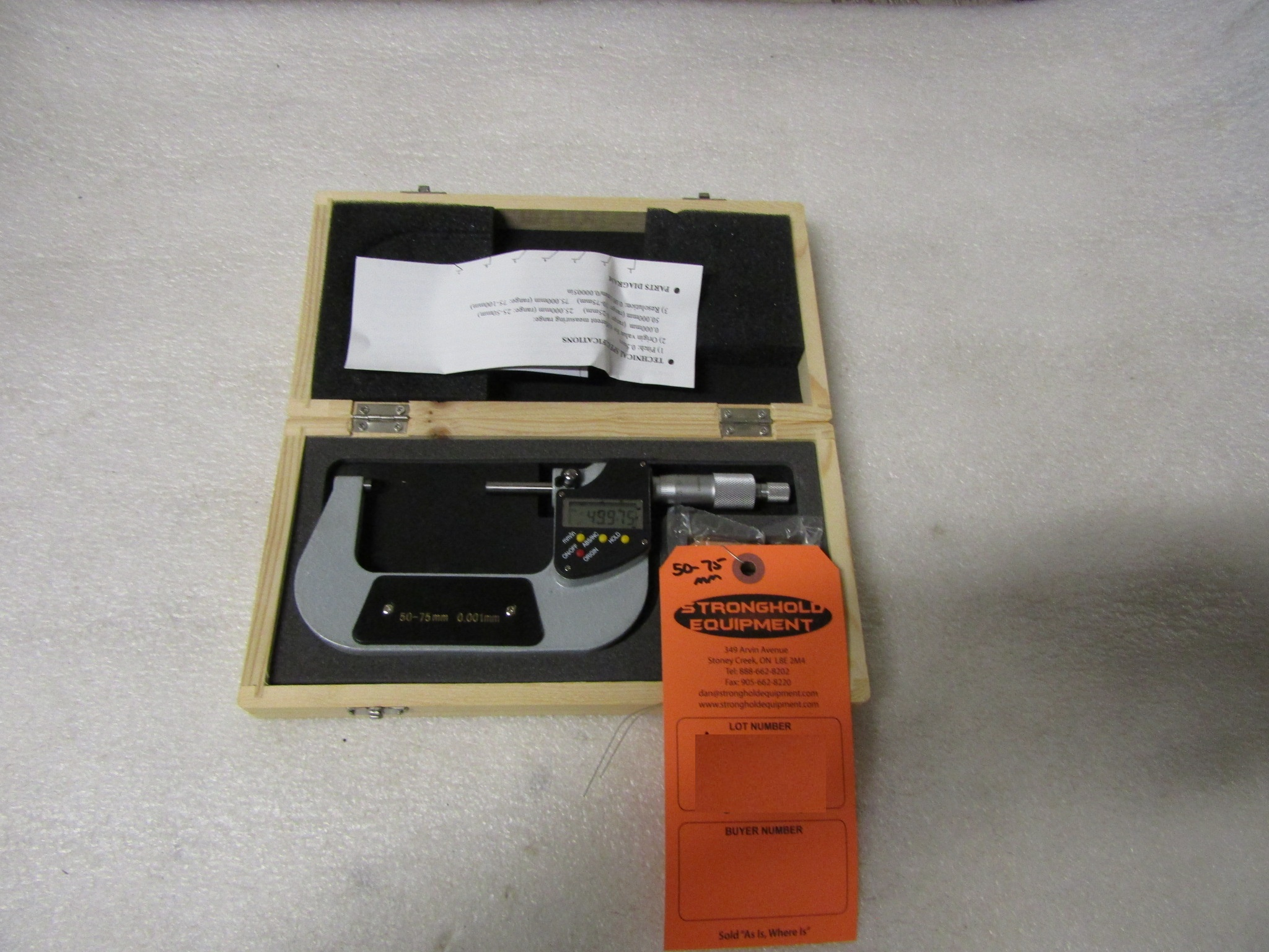 "Lot 63 - Mint 2-3"" / 50-75mm Digital Micrometer in case BRAND NEW"