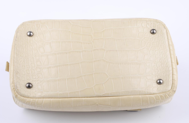 Lot 41 - CHANEL - a Paris New York Alligator Bowling handbag.