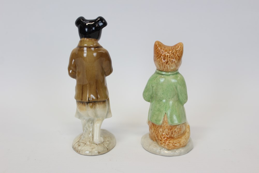 Lot 2019 - Two Beswick Beatrix Potter figures - Pickles and Ginger