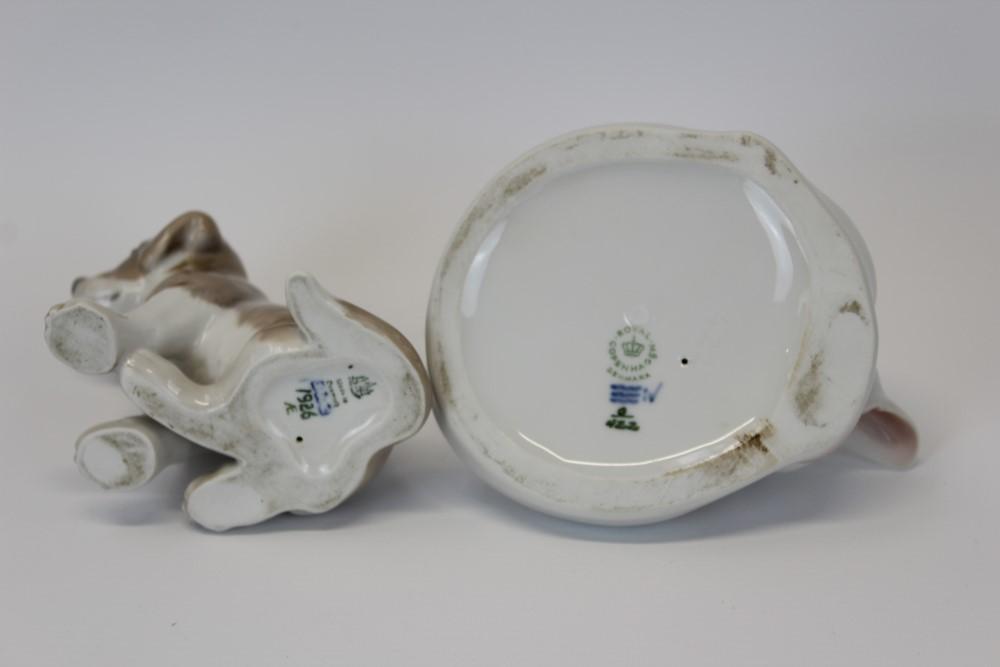 Lot 2042 - Royal Copenhagen porcelain model of a sleeping white cat,