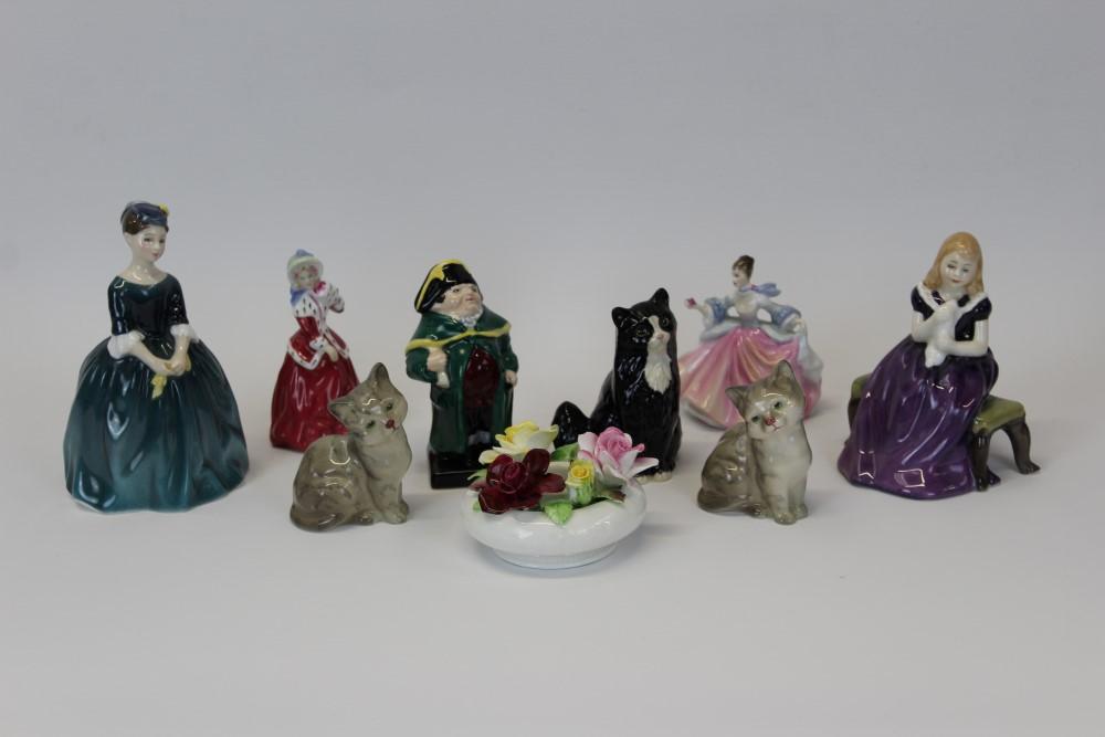 Lot 2049 - Four Royal Doulton figures - Cherie HN2341, Affection HN2236,