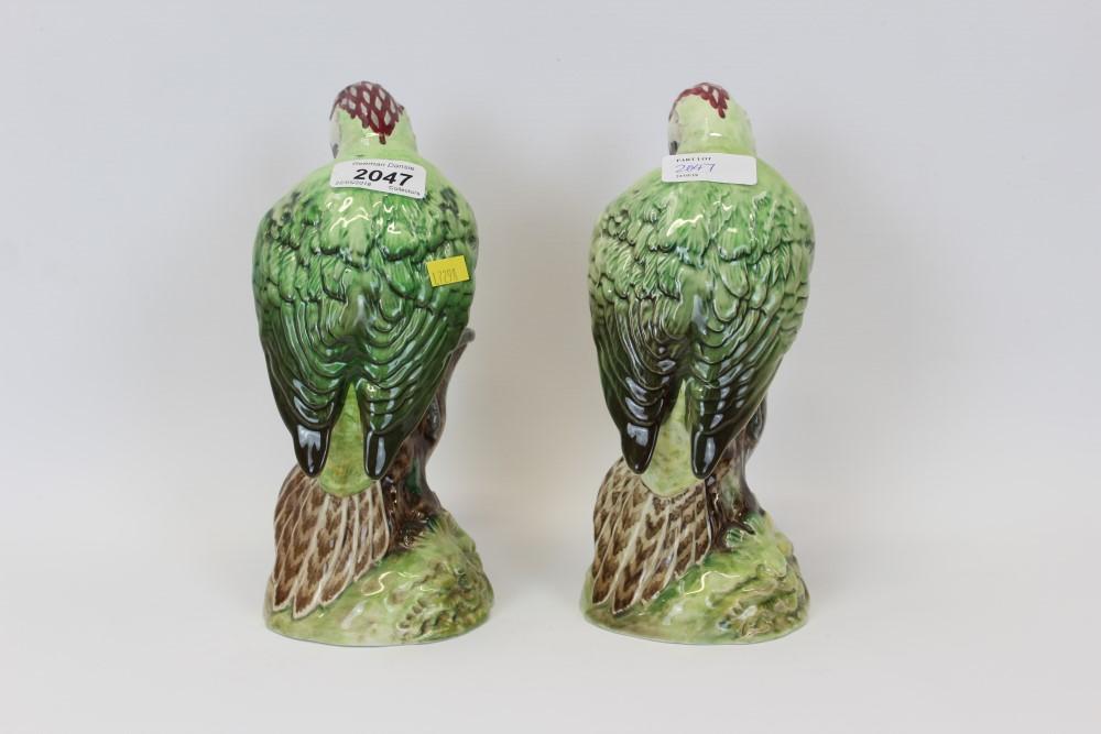 Lot 2047 - Two Beswick woodpeckers, model no.