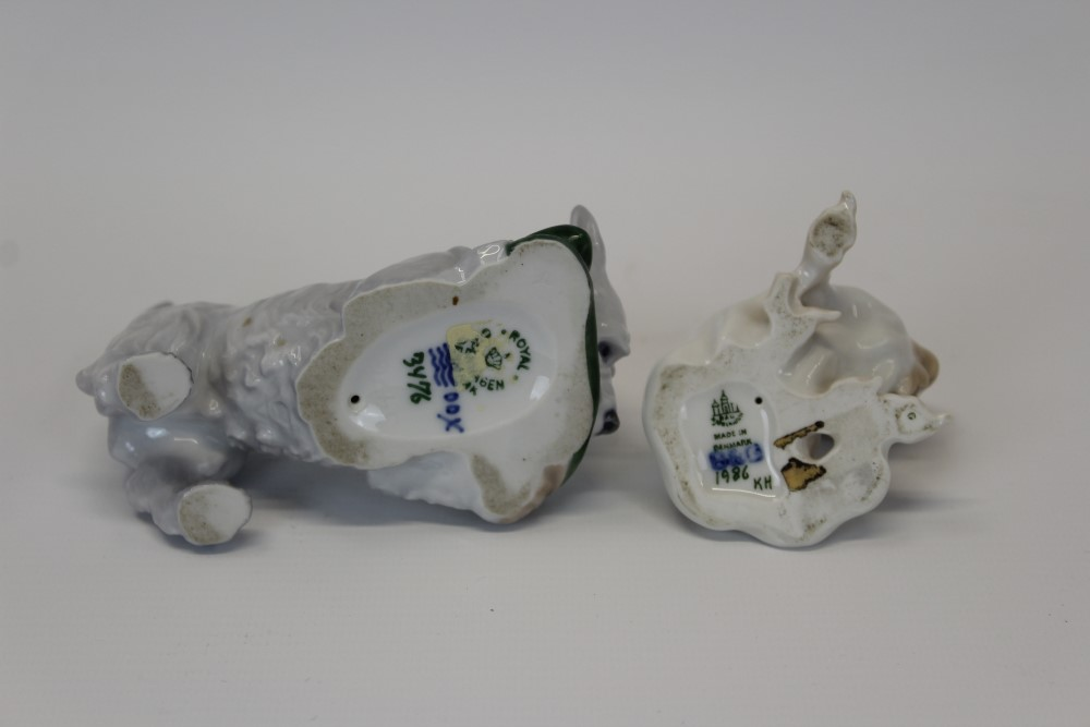 Lot 2035 - Royal Copenhagen porcelain model of a terrier chewing a slipper,