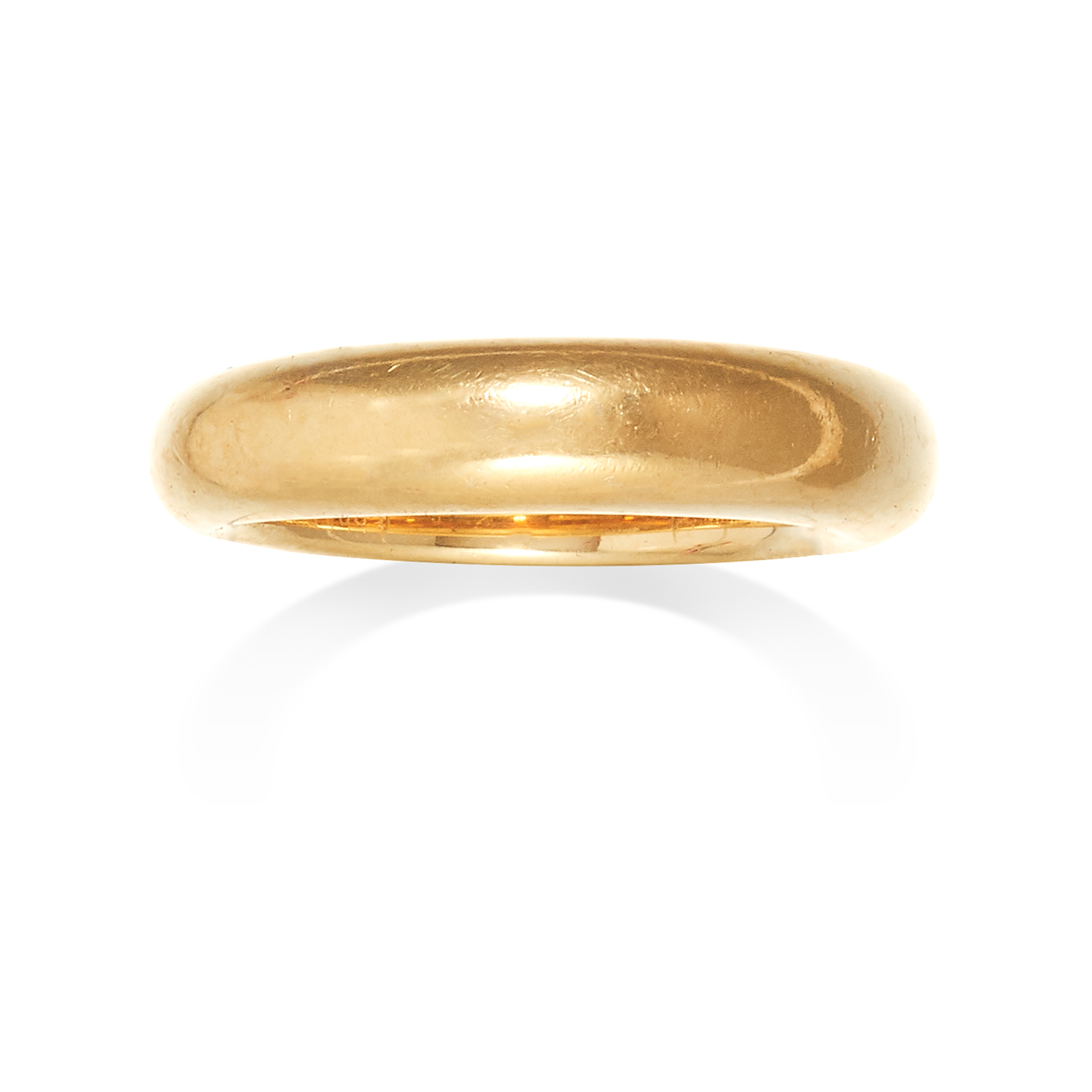 A GOLD RING, CARTIER in 18ct yellow gold, designed as thick gold band, signed Cartier and