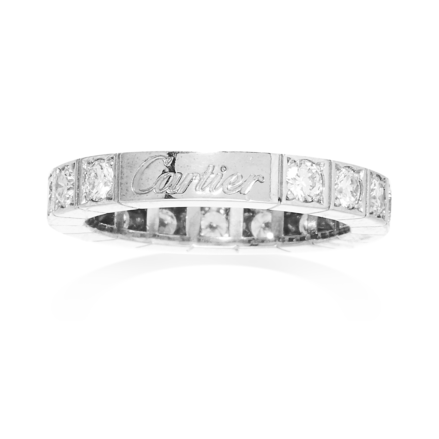 A DIAMOND ETERNITY RING, CARTIER in 18ct white gold, set with a single row of diamonds totalling 1.0 - Bild 2 aus 2