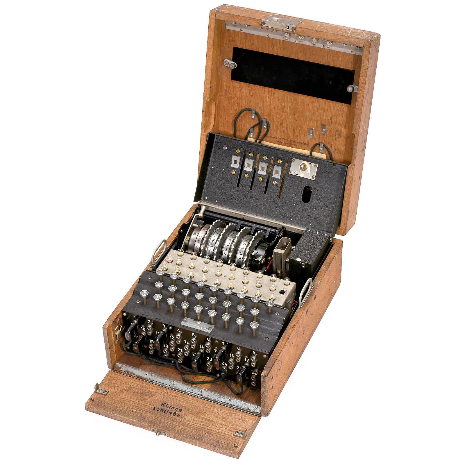 """Enigma M4"" Cypher Machine, c. 1942 4-rotor naval Enigma ..."