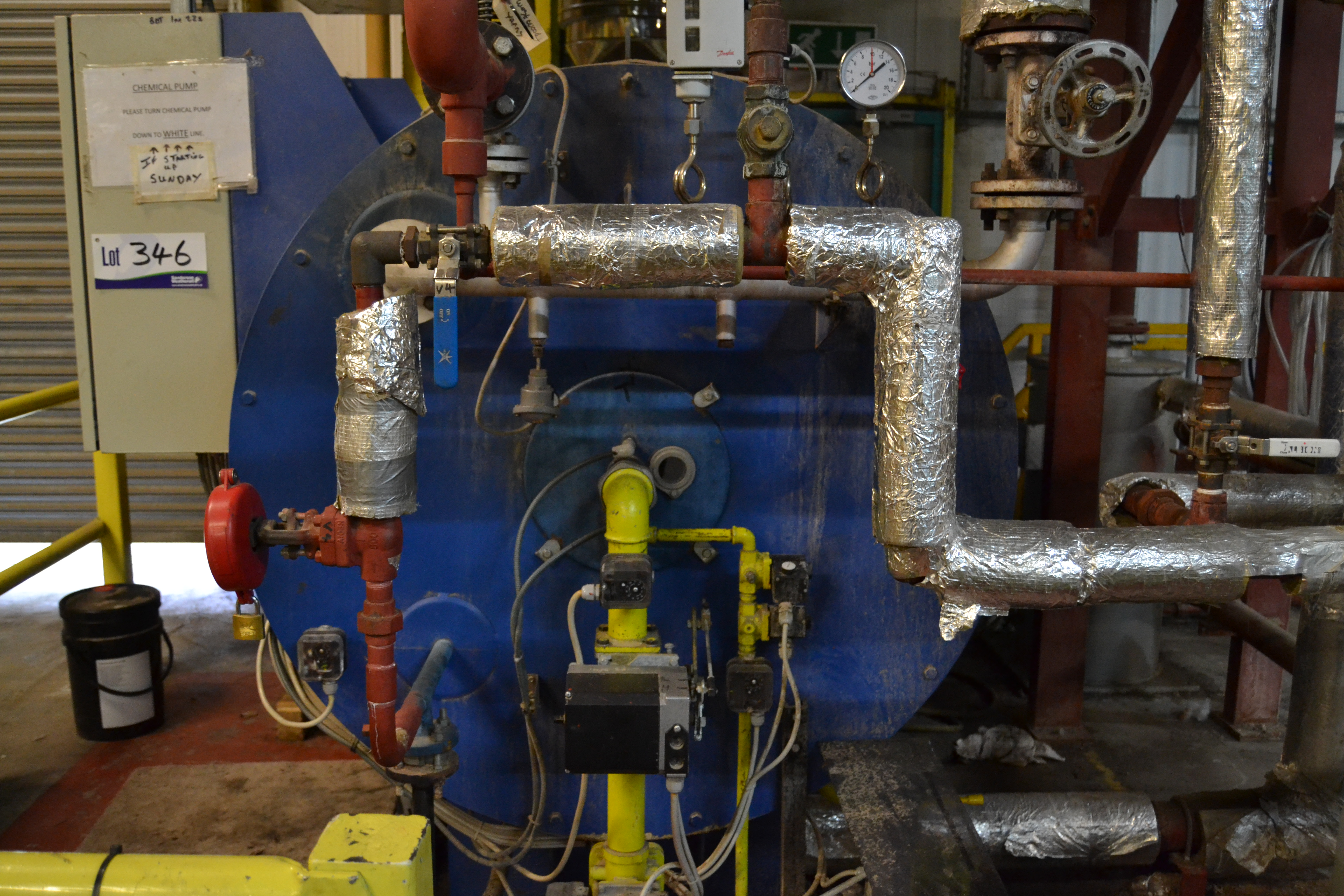 Babcock Wanson ESM 2000 Natural Gas Fired Steam Generator serial