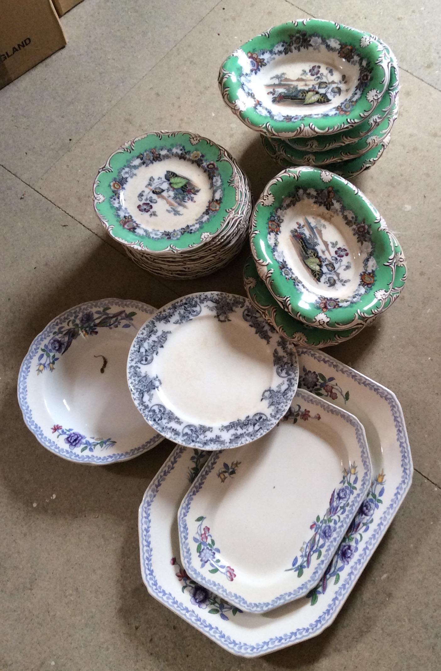 Lot 11 - Large quantity of dinner ware inc. platters etc.