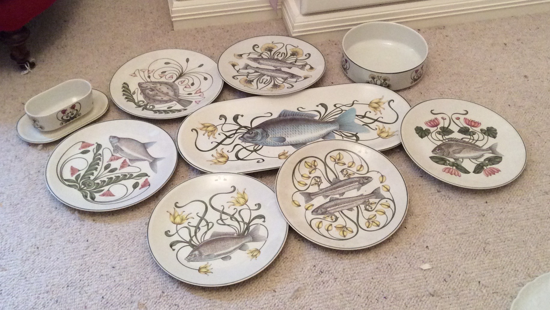Lot 46 - A Villeroy and Bosch fish service
