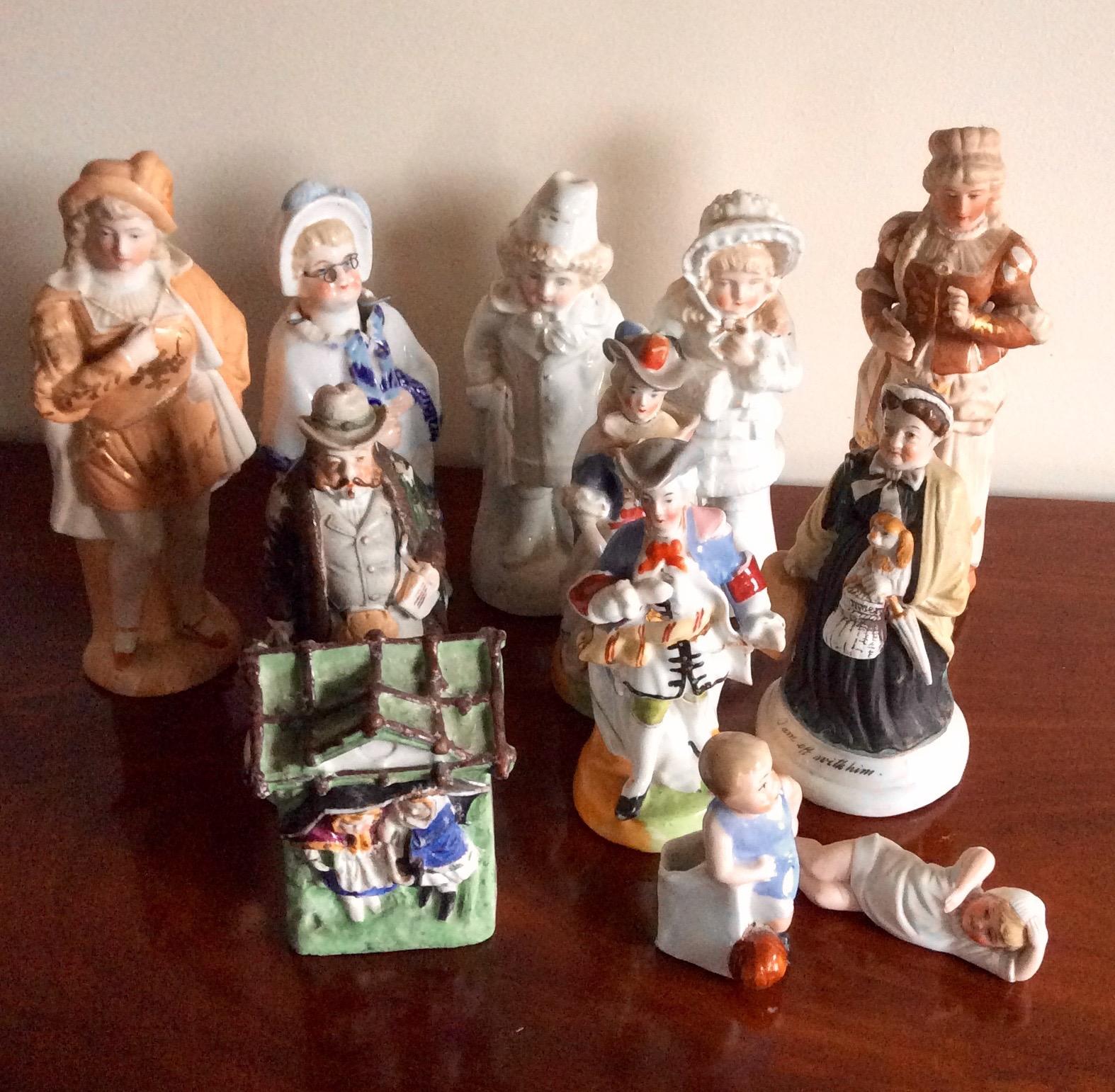 Lot 9 - Twelve various continental porcelain figures aome a/f