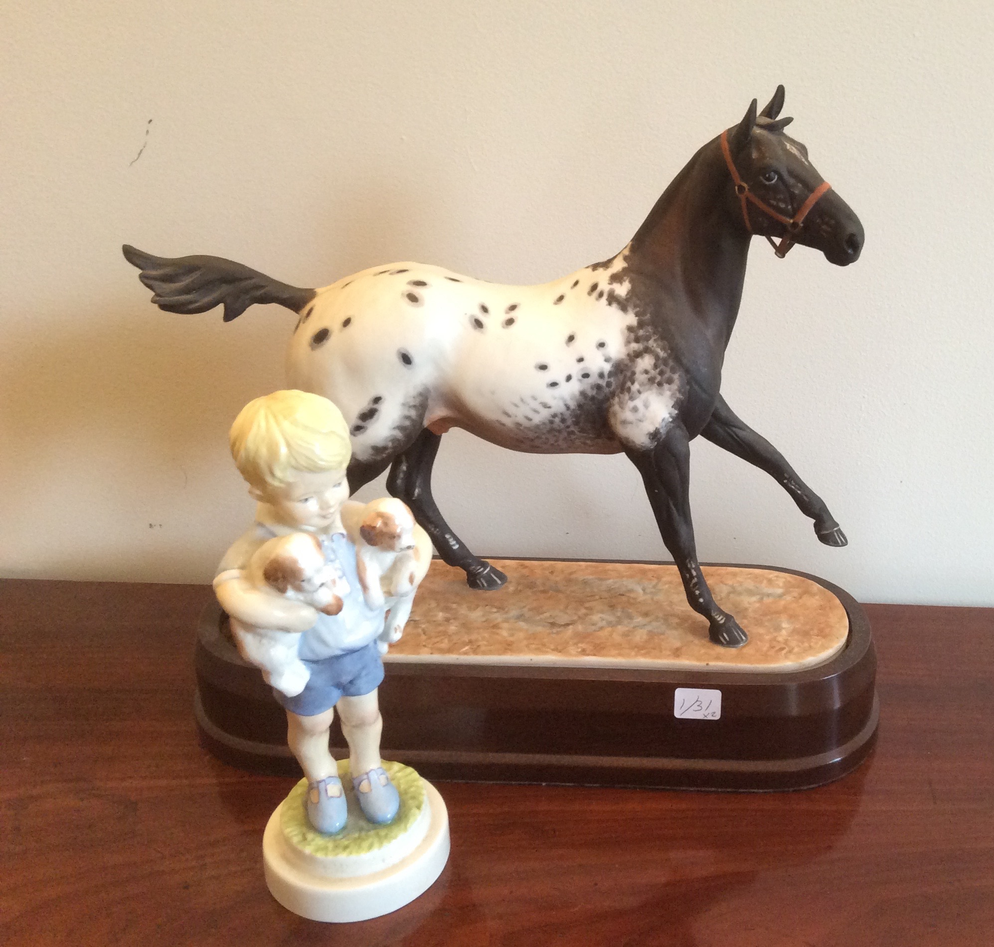 Lot 5 - Two Royal Worcester figs Apalousa Stallion and Monday's Child