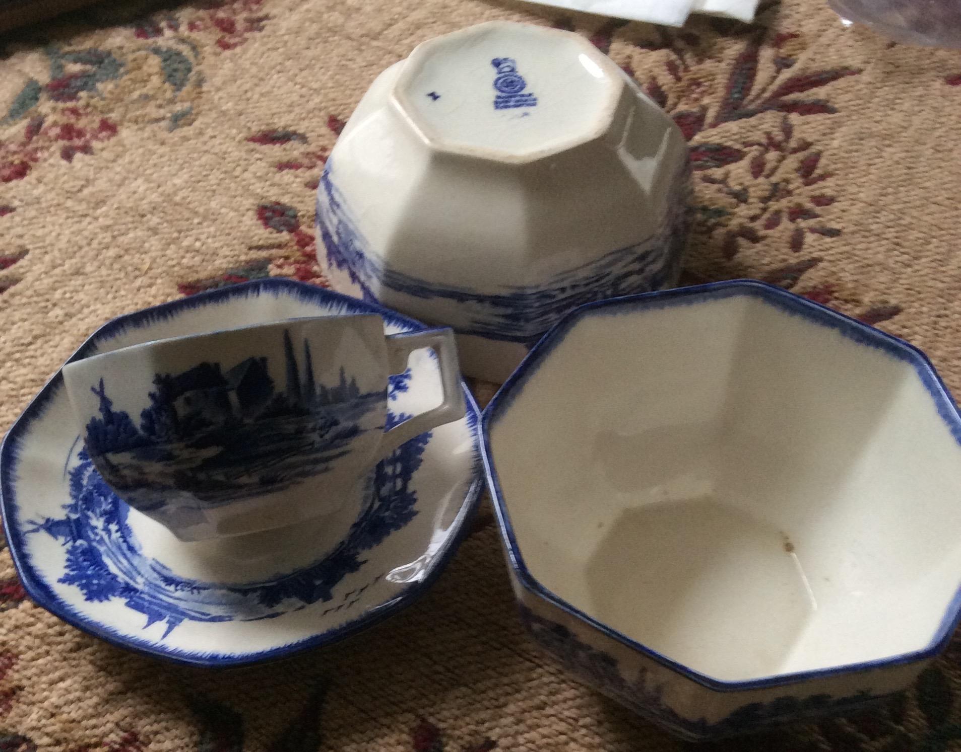 Lot 8 - Royal Doulton part tea service Norfolk pattern
