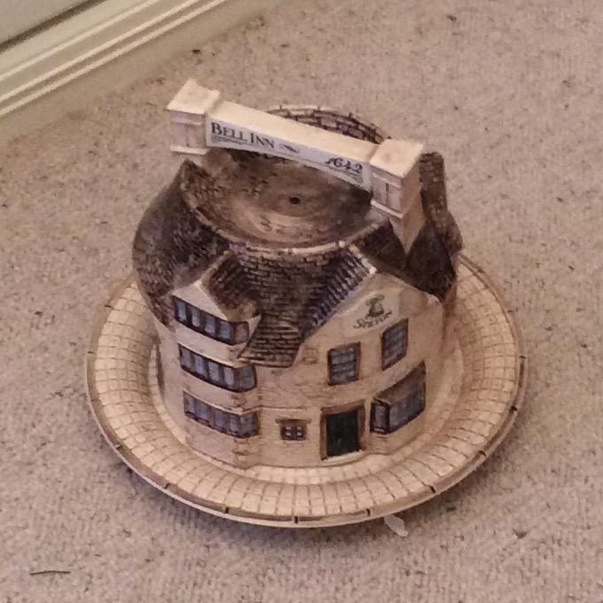 Lot 48 - A stilton cheese bell modelled on the Bell Inn Stilton retailed by