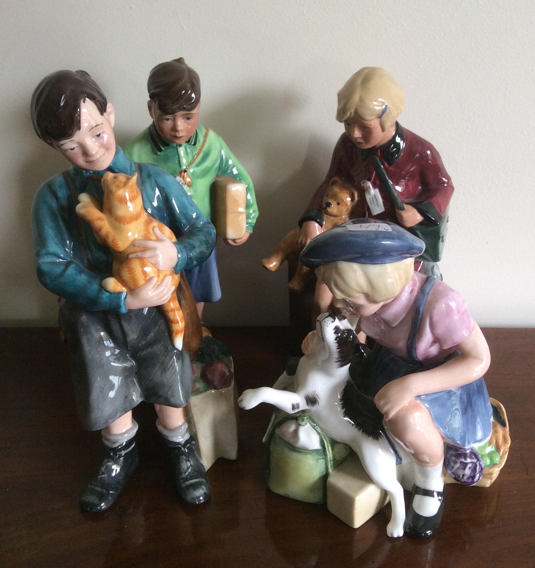 Lot 17 - Four limited edition Royal Doulton figures