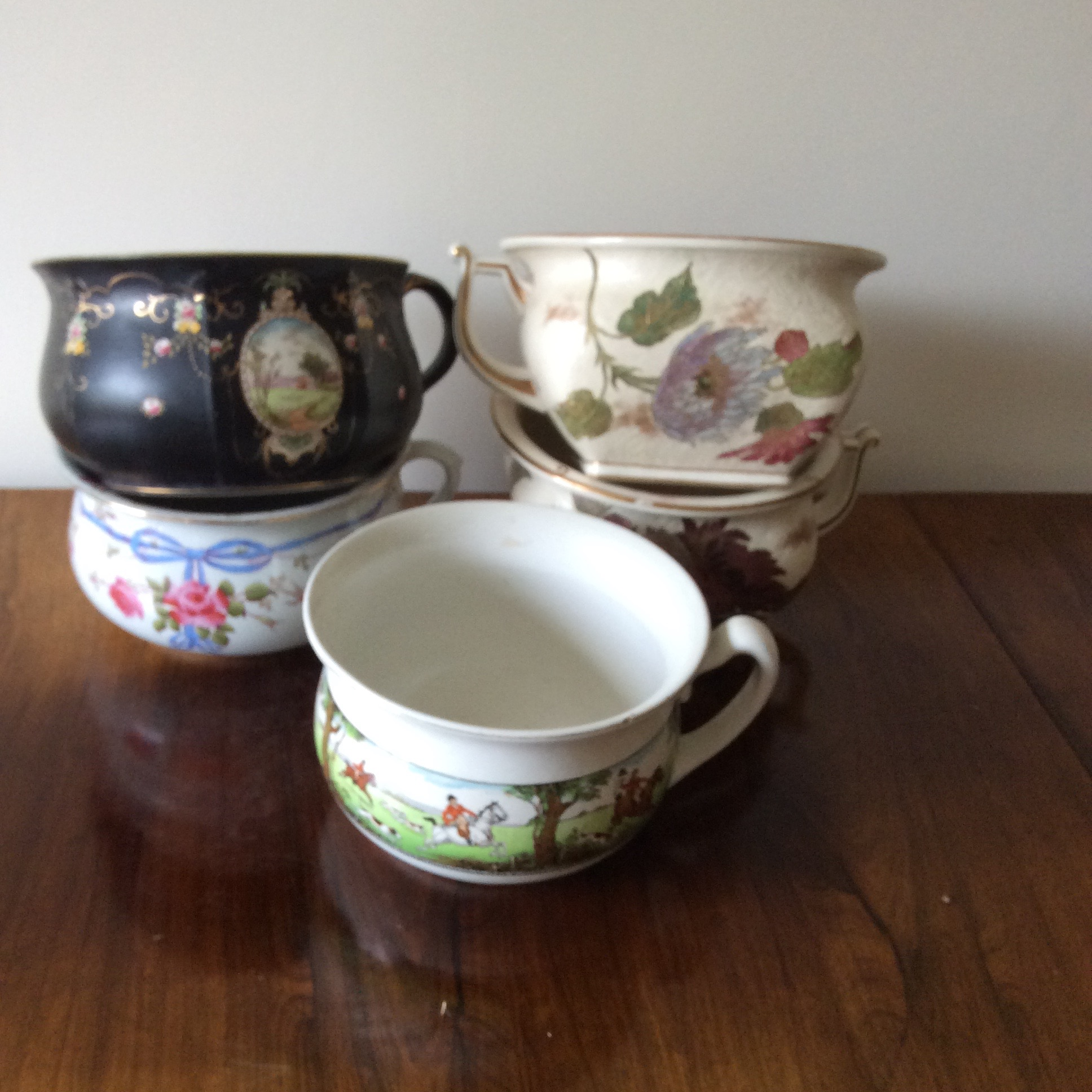 Lot 6 - Five various ceramic potties inc. Royal Doulton