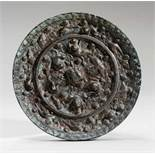 MIRROR RICHLY ORNAMENTED WITH ANIMALS Bronze. China, Tang dynasty (618 - 907)瑞獸銅鏡Decorated in a very