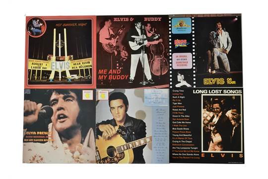 Elvis Presley, ten bootleg LP albums including Hot Summer Night