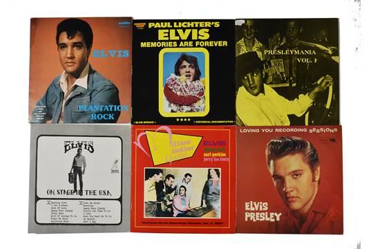 Elvis Presley, ten bootleg LP albums including Plantation Rock, Rock