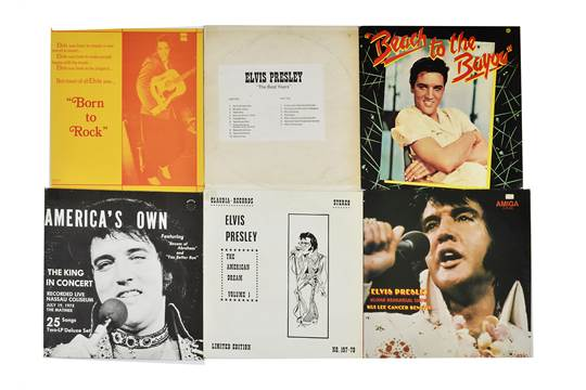 Elvis Presley, ten bootleg LP albums including Born To Rock, The