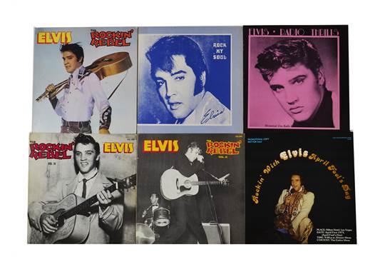 Elvis Presley, ten bootleg LP albums including Radio Thrills, Rock