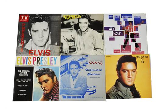 Elvis Presley, ten bootleg LP albums including All About