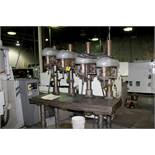 """DELTA 17"""" FOUR SPINDLE DRILL, 61"""" X 24"""" PRODUCTION TABLE"""
