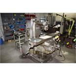 MILWAUKEE MODEL H PLAIN HORIZONTAL MILLING MACHINE S/N 9-3073, T-SLOT WORK TABLE, ARBOR SUPPORT