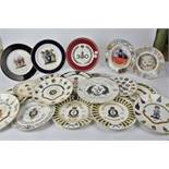 A collection of contemporary collectors plates, predominantly with military commemorative subject