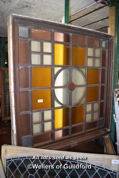 Lot 1879 - COLOURED GLASS WINDOW, 157CM X 160CM
