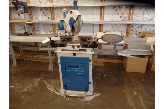 Omega T50350 Miter Saw W Dust Collection System Extra Blades