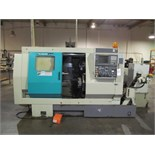 Takisawa mod. TPS-5000, 4-Axis Twin Spindle Turning Center w/ Vertical Milling Head, Twin 8-Post