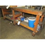 (Lot) Bench w/ Contents