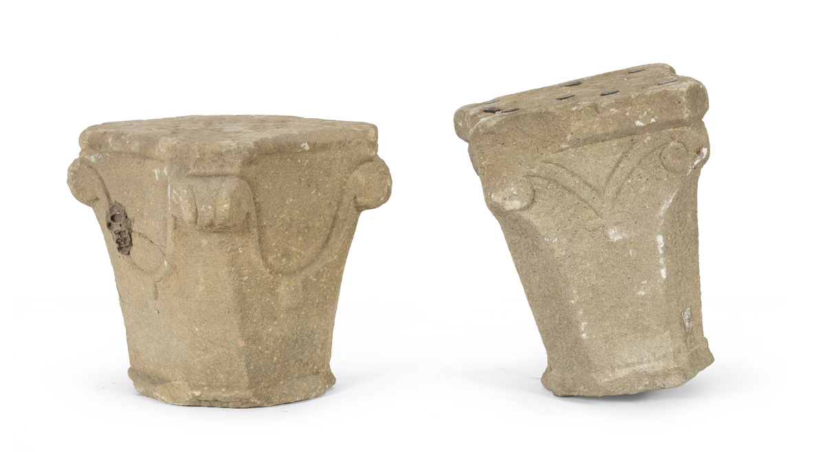 Lot 49 - TWO CAPITALS IN STONE GOTHIC PERIOD
