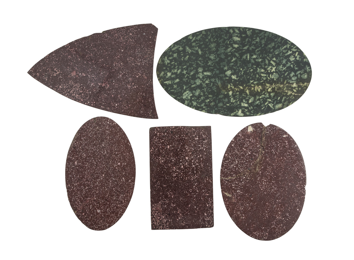 Lot 55 - FIVE FRAGMENTS IN MARBLES WORKMANSHIP OF THE 19TH CENTURY