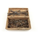 A quantity of brass and steel sand moulding tools G