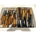 2 trays of chisels (approx 40)