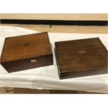 2 Oak Cabinets